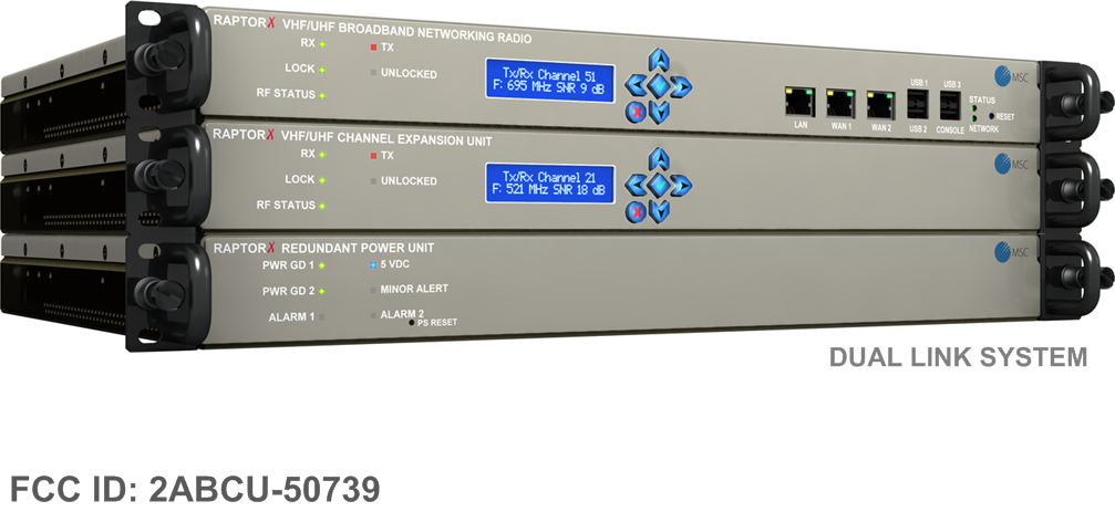 RaptorX Carrier Class White Space Broadband Radio Dual Channel