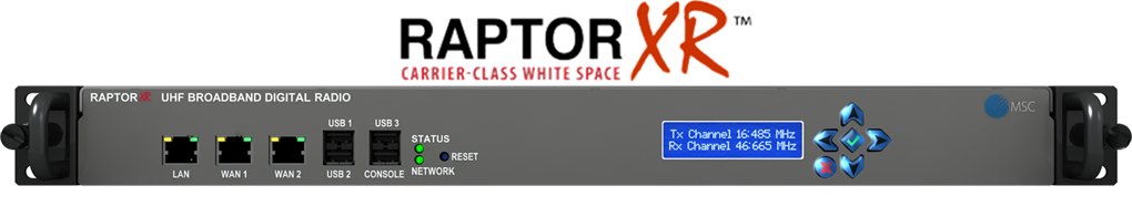 RaptorX Dual Channel White Space Broadband Network Radio