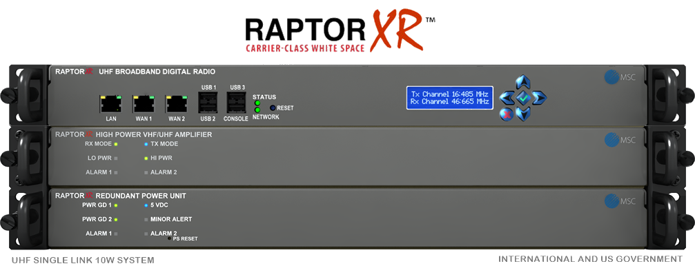RaptorXR Dual Channel White Space Broadband Network Radio